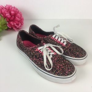 b2a42fbac6245f Vans Shoes - Vans Paint Splatter Pink Black Sneakers M 7 W 8.5